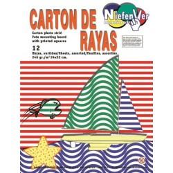 CARTONES DECORADOS RAYAS