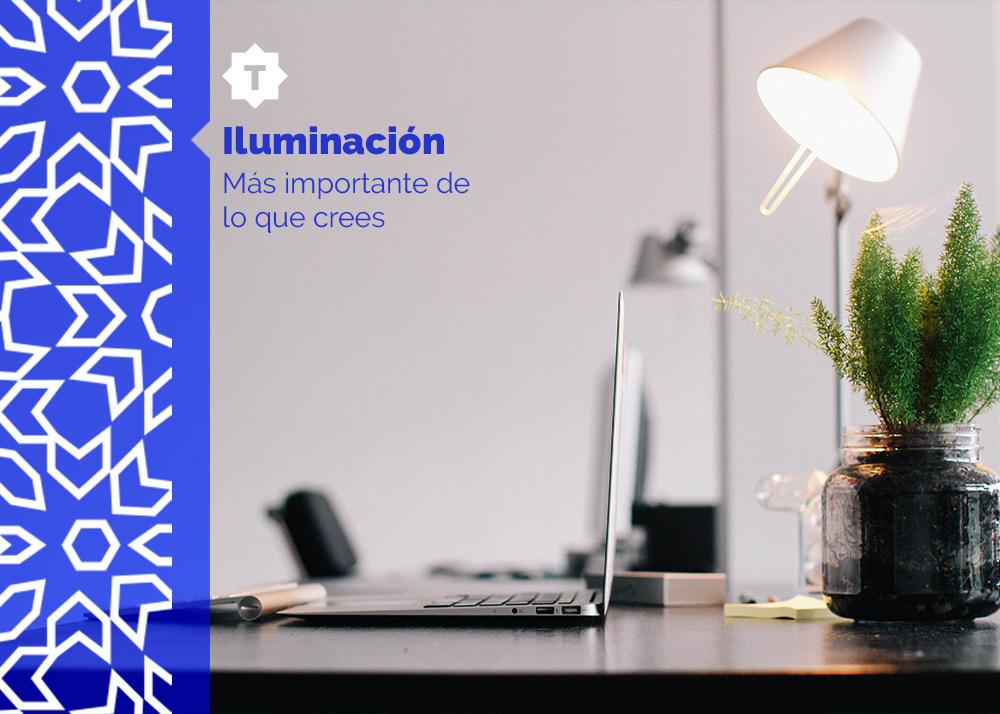Soluciones de iluminación en el espacio de trabajo